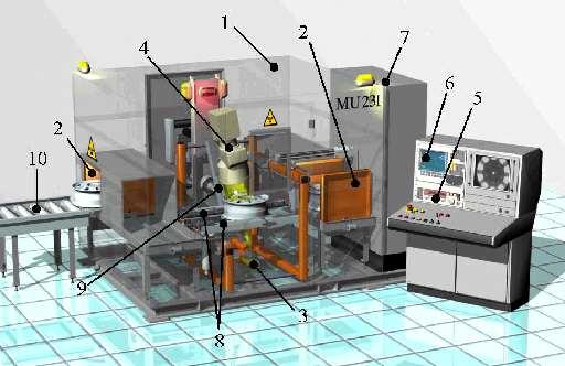Fully Automatic X Ray Inspection Of Aluminium Wheels