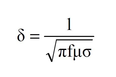 depth of penetration formula