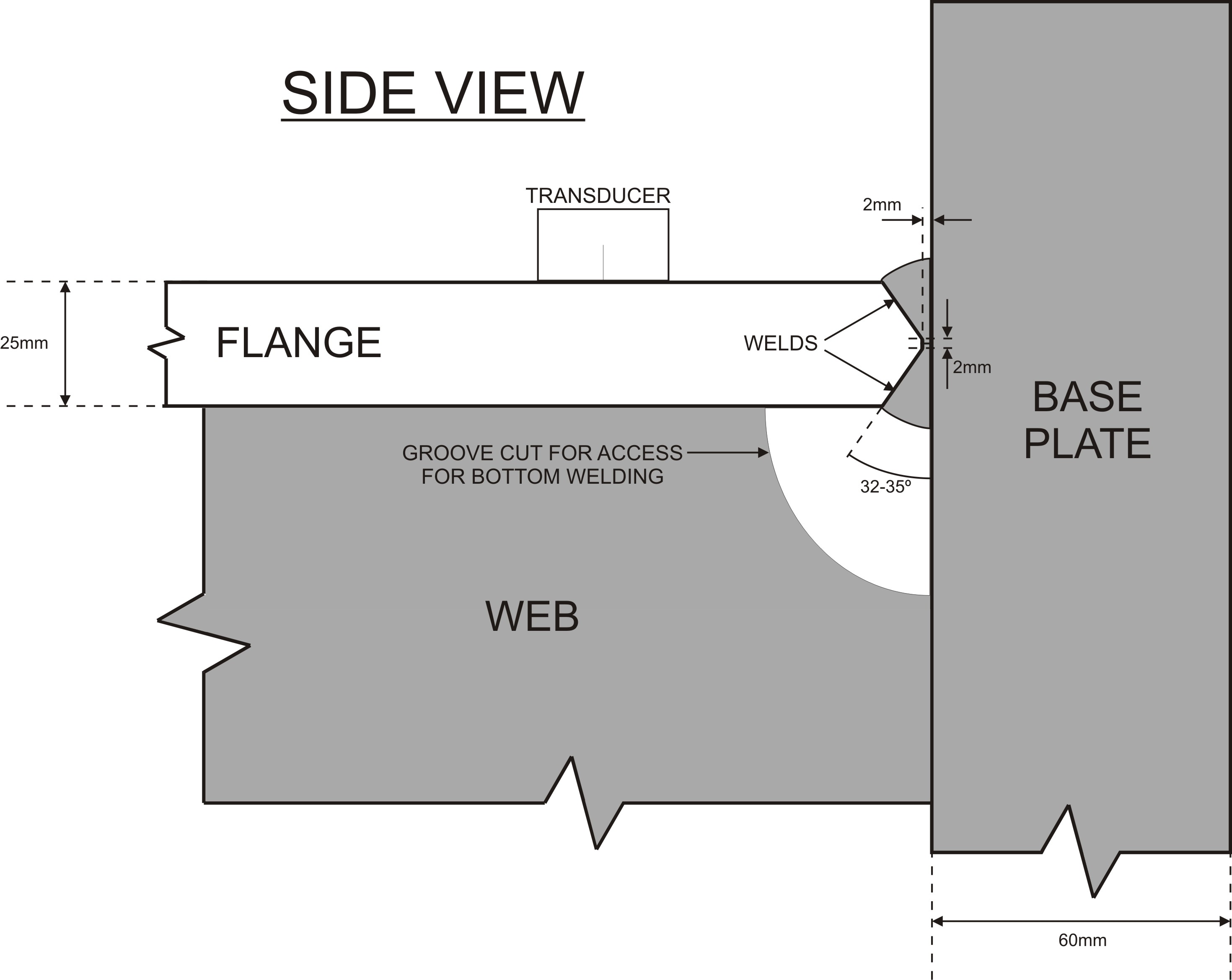 Ut Of Column To Base Plate Welding Defects Diagram I Have Uploaded An Image A Where The Beam Is Welded Fabricated In Refinery Area Which Will Be