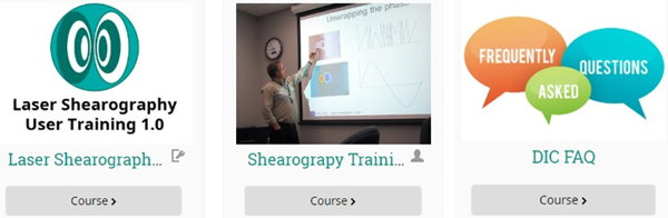 Learn more on Shearography with free access to Dantec's eLearning portal