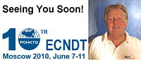 Rolf Diederichs is looking forward to seeing you soon at the ECNDT in Moscow from 7-10 June and at the NDT-Canada from 14-17 June.